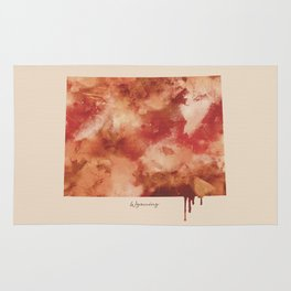 Wyoming Watercolor State Rug