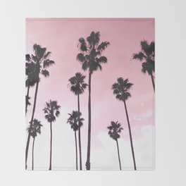 Palms & Sunset Throw Blanket