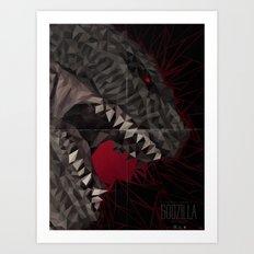 Godzilla Scream Art Print