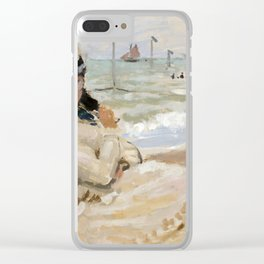 Claude Monet - Camille on the Beach in Trouville Clear iPhone Case
