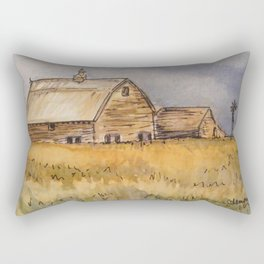 Barns and Windmill Rectangular Pillow