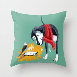 October is calling you! Throw Pillow
