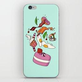 falling food iPhone Skin