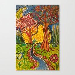 Whimsical Trees Canvas Print