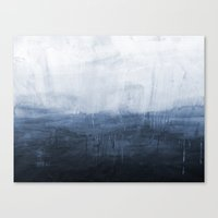 Canvas Prints featuring The Storm - Ocean Painting by Prelude Posters