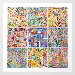 Shamanic Painting 1-9 Art Print