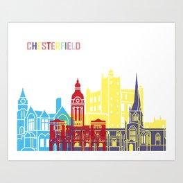 Chesterfield UK skyline pop Art Print