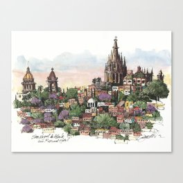 Sunset over San Miguel de Allende Canvas Print