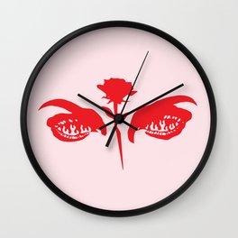 Love Hurts (pink) Wall Clock
