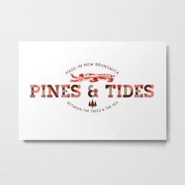Pines & Tides Metal Print