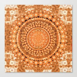 Boho Pumpkin Spice Mandala Canvas Print