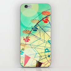 Panoramic carnival ferris wheel iPhone & iPod Skin