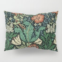 William Morris Compton Floral Art Nouveau Pattern Pillow Sham