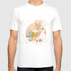 Reindeer Before Christmas Mens Fitted Tee White SMALL
