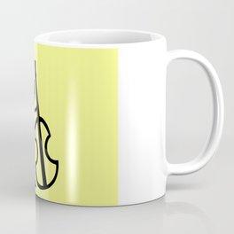 Guitar Figure in Yellow Coffee Mug