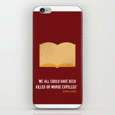 'we all could have been killed or worse expelled'' Hermione iPhone Skin