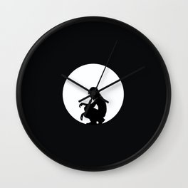 Man in Circle Wall Clock