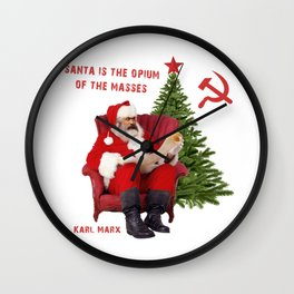 Karl Marx Santa Wall Clock