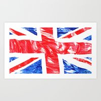 uk Art Prints featuring UK by arnedayan