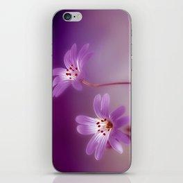 Purple Stitches iPhone Skin
