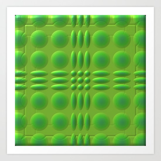 Puffy Green Art Print
