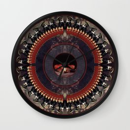 Mandala: Goya (Red)  Wall Clock