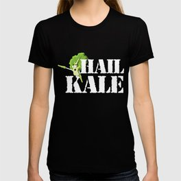 Hail Kale Kale Art for Vegans Vegetarians on Diet Dark T-shirt