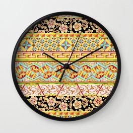 Gypsy Caravan Boho Stripe Wall Clock