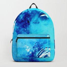 dolphin splatter watercolor Backpack