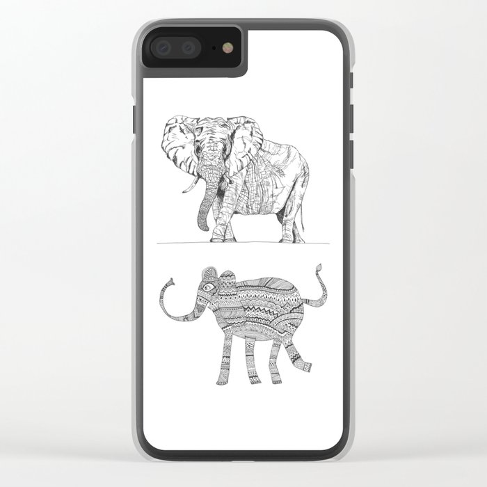 two ways to see one elephant Clear iPhone Case