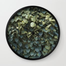 Green Leaves at the End of Summer Wall Clock