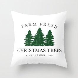 Farm Fresh Christmas Trees Throw Pillow