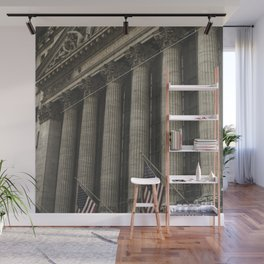 New York, Wall Street, stock exchange building, US flag, I love NY Wall Mural