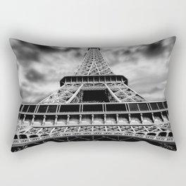 Eiffel tower paris dark canvas art Rectangular Pillow