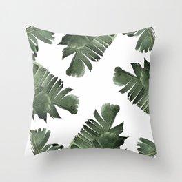 Banana Leaf Frenzy #society6 Throw Pillow