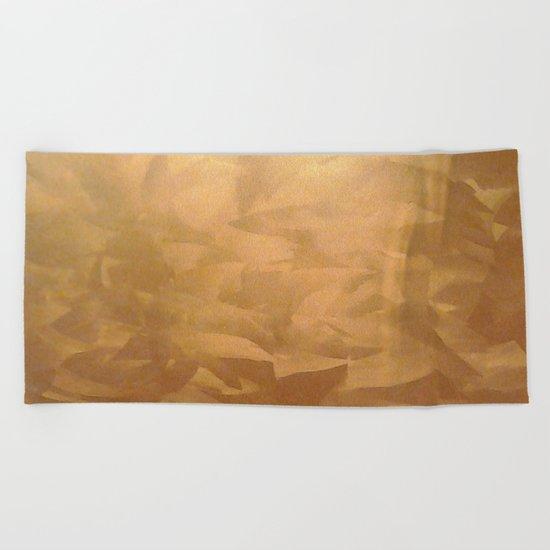 Brushed Copper Metallic - Beautiful - Rustic Glam - Fancy Faux Finishes - Unique Beach Towel