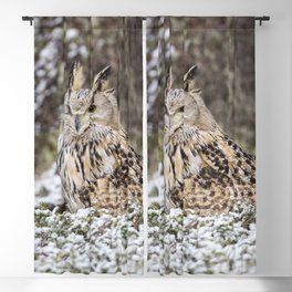Western Siberian Eagle Owl Blackout Curtain