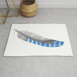 Blue Jay Feather Rug