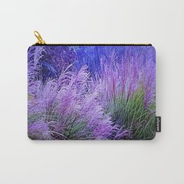 Purple long grass Carry-All Pouch