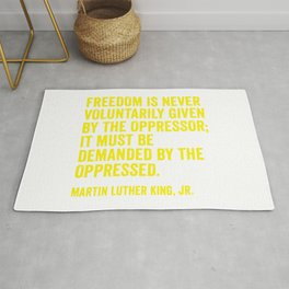 Martin Luther King Quote in Yellow Rug