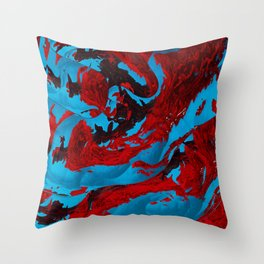 Lava ocean mix Throw Pillow