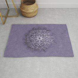 Vintage Lavender Watercolor Mandala Rug