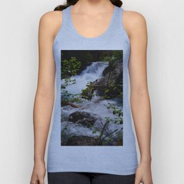 Geraldine Waterfall located in Jasper National Park Unisex Tank Top