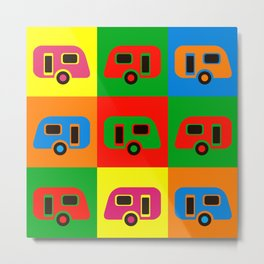 Caravan Pop Art Metal Print