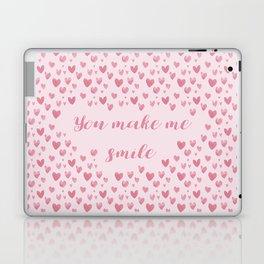 You Make Me Smile - Hearts Pattern Laptop & iPad Skin
