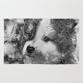 AnimalArtBW_Dog_20170802_by_JAMColorsSpecial Rug