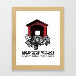 Arlington Village Farmers Market Framed Art Print