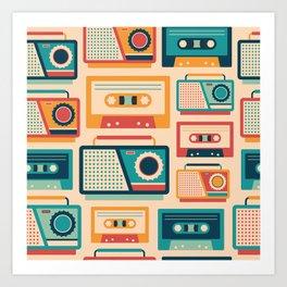 Audio Cassettes and Radios Art Print