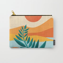 Mountain Sunset / Abstract Landscape Illustration Carry-All Pouch