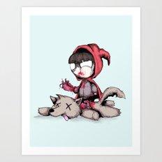 Bad Bitch Red Art Print